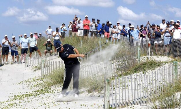 'Got lucky there, could have been a 10': Shane Lowry plays shot from the beach during PGA Championship